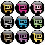 guzików fury zakupy sieć Zdjęcie Stock