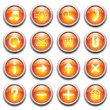 guzików glansowany symboli/lów wektor ilustracji