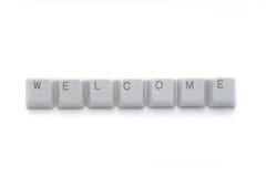 guzików klawiatury powitanie Fotografia Stock