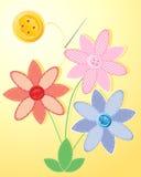 Guzików kwiaty Fotografia Stock