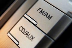 guzików samochodowy cd kontrola radio Zdjęcia Stock