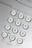 guzików zakończenia srebro w górę widok biel Fotografia Royalty Free