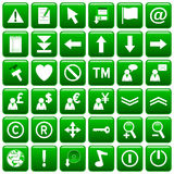 guzik 2 zielone kwadratową sieci Fotografia Royalty Free