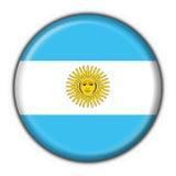 guzik, argentina flagę Fotografia Stock