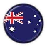 guzik australijskiego serce round ilustracja wektor