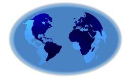 guzik błękitny mapy Fotografia Stock
