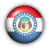 guzik bandery stan Missouri dookoła usa royalty ilustracja