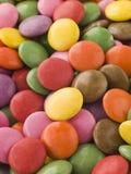 guzik czekolada - smarties pokryty cukier fotografia stock