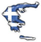 guzik Greece bandery mapy kształt Obraz Royalty Free