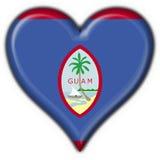 guzik Guam bandery kształt serca Zdjęcie Stock