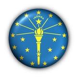guzik Indiana usa państwa bandery, okrągły ilustracji
