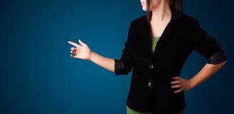 guzik kobieta imaginacyjna naciskowa Zdjęcia Stock