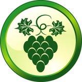 guzik kwiecisty szklane winogrona Zdjęcie Royalty Free