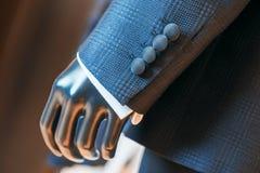 Guzik luksusowy smokingu rękaw Zdjęcie Stock