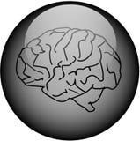 guzik mózgu szkła ilustracji