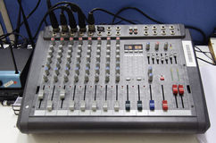 Guzik na panel desce efekta dźwiękowego kontroler Zdjęcie Stock