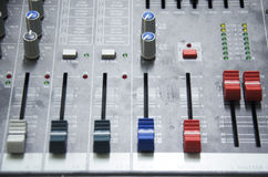 Guzik na panel desce efekta dźwiękowego kontroler Zdjęcia Stock