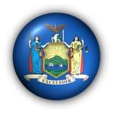 guzik nowego runda państwa bandery York usa ilustracji