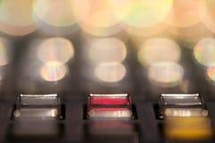 Guzik Switcher zapina w pracownianej staci telewizyjnej, audio i wideo, zdjęcia royalty free