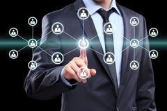 Guzik władzy ikony sieci biznesowy znak online Fotografia Stock