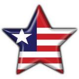 guzika chorągwiana Liberia kształta gwiazda Obraz Royalty Free