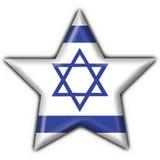 guzika chorągwiana Israel kształta gwiazda Zdjęcie Royalty Free