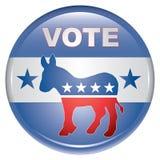 guzika demokrata głosowanie Zdjęcie Stock