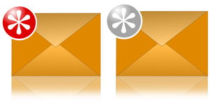 guzika emaila set Obrazy Royalty Free