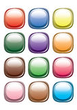 guzika kolorów wektor Zdjęcia Stock
