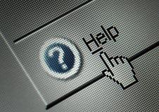 guzika komputerowy pomoc interfejs Obraz Stock