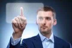 guzika mężczyzna naciskowy ekran sensorowy Obrazy Stock