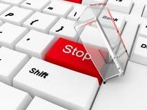 guzika okładkowego szkła klawiaturowa czerwona przerwa Zdjęcia Stock