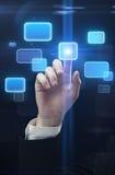 guzika ręki interfejsu dosunięcia ekranu dotyk Obraz Stock