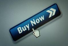 guzika zakupu komputerowy interfejs teraz Zdjęcie Stock