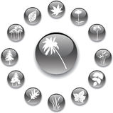 guziki 5 grey charakter zestawu Obrazy Royalty Free
