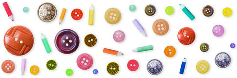 guziki barwią fasonujący stary deseniowy bezszwowego Zdjęcie Royalty Free