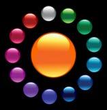 guziki barwią glansowanego ilustracji
