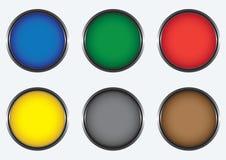 guziki barwili sześć ilustracji