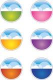 guziki chmurnieją ikony Fotografia Stock