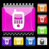 guziki dzwonią prostokątnego Zdjęcia Royalty Free