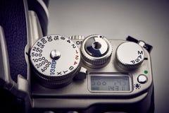 Guziki i żaluzi kontrolna tarcza na SLR kamerze Obrazy Royalty Free