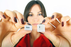 guziki kobieta budzą się kobiety Obrazy Royalty Free