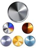 guziki miedziują metalu złocistego srebro ilustracji