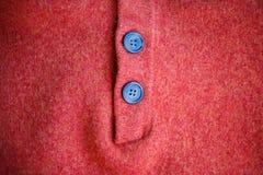 Guziki na woolen pulowerze Obrazy Royalty Free