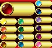 guziki obramiają szklanego złoto Obraz Royalty Free