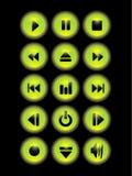 guziki zielenieją muzykę Zdjęcia Stock