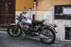 Guzzi motorcycle parked in Rome, Italy Stock Photography