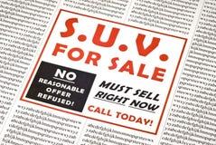 Guzzler del gas da vendere l'annuncio Fotografie Stock Libere da Diritti