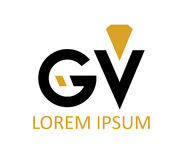 GV Diamond Logo Design illustration stock