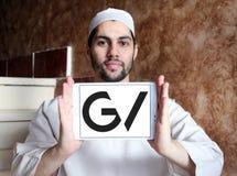 GV , Google Ventures logo. Logo of GV , Google Ventures on samsung tablet holded by arab muslim man. GV, formerly Google Ventures, is the venture capital Stock Photos